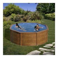 Купить Сборный бассейн GRE Dream Pool Pool PR458WO (460x132) с облицовкой «под дерево»