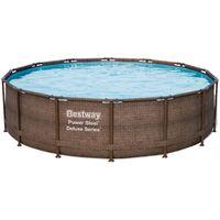 Купить Каркасный бассейн Bestway Ротанг 56664 (427х107) с картриджным фильтром
