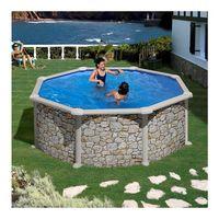 Купить Сборный бассейн GRE Dream Pool PR358P (350x132) с облицовкой «под камень»