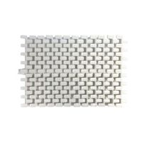 Купить Переливная решетка Aquaviva Grift с центральным соединением 195x25 мм (белая)