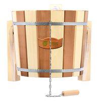 Купить Русский душ 16 л. «Контраст», обливное устройство c пластиковой вставкой и наливным клапаном, липа