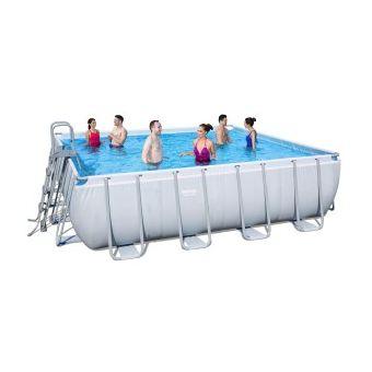 Купить Каркасный прямоугольный бассейн Bestway 56457 (412х201х122) с песочным фильтром