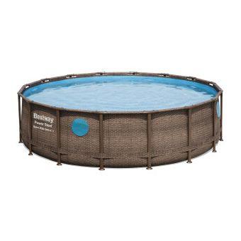Купить Каркасный бассейн Bestway Ротанг 56725 (488х122) с картриджным фильтром