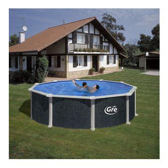 Купить Сборный бассейн GRE Dream Pool PR458RT (460x132) с облицовкой «под ротанг»
