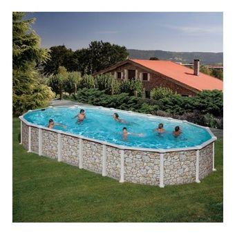 Купить Сборный бассейн GRE Dream Pool PROV9188WO (915х470х132 ) с облицовкой «под дерево»