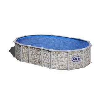Купить Сборный бассейн GRE Dream Pool PROV7388P (730х375х132) с облицовкой «под камень»