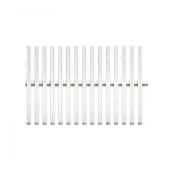 Купить Переливная решетка Aquaviva Classic с двойным соединением 195x25 мм (белая)