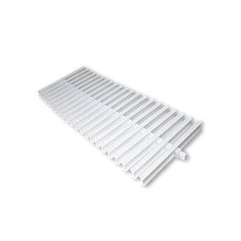 Купить Переливная решетка AquaViva KT-30 Classic с центральным соединением 295x25 мм (белая)