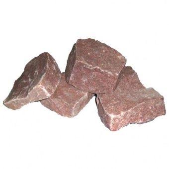 """Купить Камень """"Кварцит"""" малиновый, колотый, в коробке по 20 кг """"Банные штучки""""/1"""