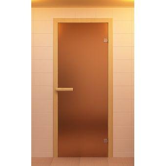 """Купить Дверь для сауны  """"AKMA"""" (ДС)  бронзовый сатинат) 800×2000лиственная породазакаленное стекло 10 мм"""