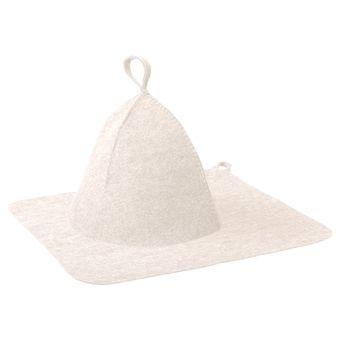 """Купить Набор из двух предметов (Шапка, коврик)  белый """"Нot Pot""""/20"""