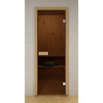 """Купить Дверь для сауны  """"АКМА Aspen M"""" Бронза матовая  (коробка ОСИНА) Так же: Серое матовое, Бесцветное матовое 700 x 2000"""